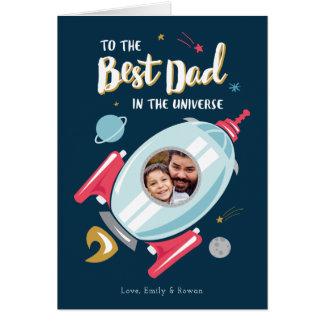 Cartão Melhor no cartão do dia dos pais do universo