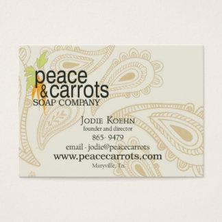 Melhor Paz e cartão de visita de Cenouras Sabão