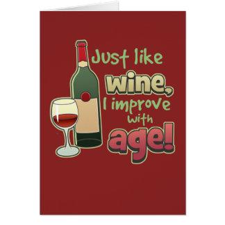 Melhore com cartão da idade