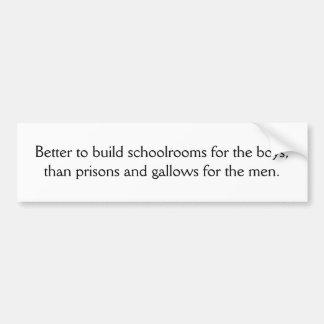 Melhore para construir schoolrooms para os meninos adesivo para carro