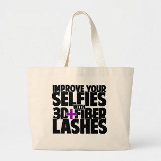 Melhore seus selfies com 3d + Chicotes da fibra Sacola Tote Jumbo