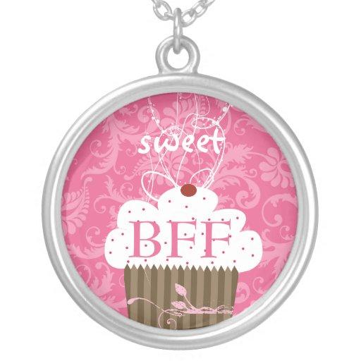 MELHORES AMIGOS cor-de-rosa do Damasco-BFF do cupc Pingentes