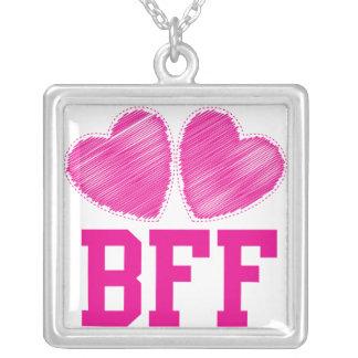 Melhores amigos de BFF para sempre Colar Com Pendente Quadrado