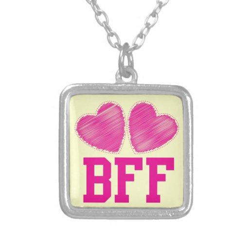 Melhores amigos de BFF para sempre com corações do Colares Personalizados