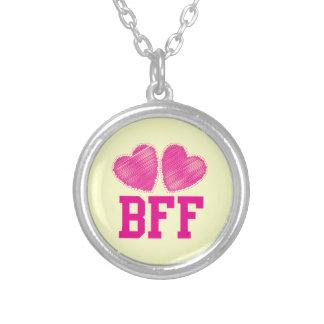 Melhores amigos de BFF para sempre com corações do Colar Com Pendente Redondo