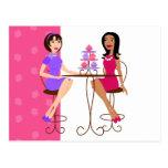 Melhores amigos e cupcakes! cartoes postais