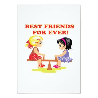 Melhores amigos para nunca convites personalizado