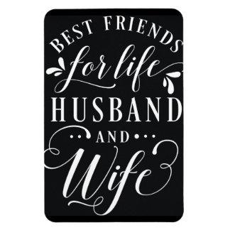 Melhores amigos para o marido da vida e o quadro ímã