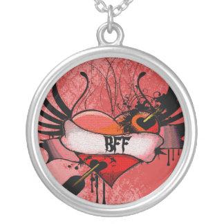 Melhores amigos para sempre BFF do coração do Colar Com Pendente Redondo