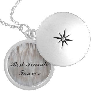 Melhores amigos para sempre colar banhado a prata