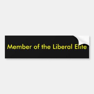 Membro da elite liberal adesivo para carro