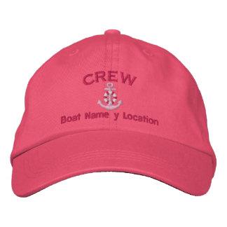 Membro de grupo seu nome do barco seu nome ou boné bordado