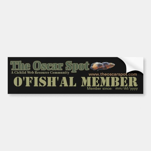 Membro de O'fish'al - personalizado Adesivos