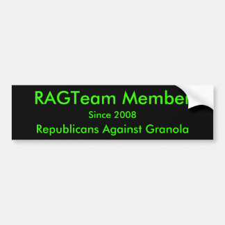 Membro de RAGTeam, republicanos contra o Granola,  Adesivo Para Carro