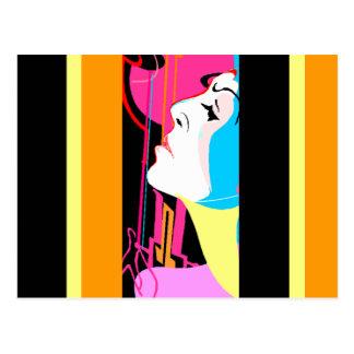 Membro do abstrato do pop art GR8 do cartão da