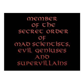 Membro dos cartão secretos da ordem