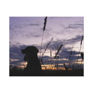 Memória de Labrador Impressão De Canvas Esticada