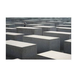 Memorial aos judeus assassinados de Europa Impressão De Canvas Esticadas