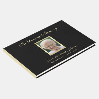 Memorial da foto ou livro de hóspedes do funeral