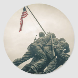 Memorial de Iwo Jima no Washington DC Adesivo Redondo