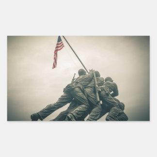 Memorial de Iwo Jima no Washington DC Adesivo Retangular