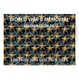 Memorial de WWII - Washington DC Cartão