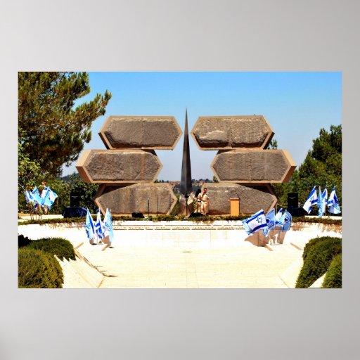 Memorial de Yad Vashem aos soldados & aos partidár Pôsteres