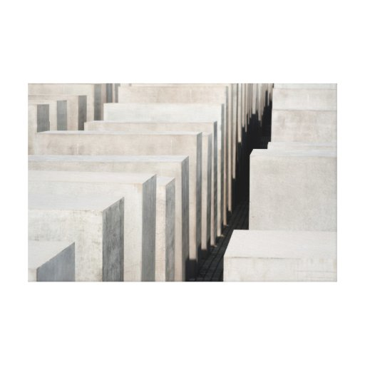 memorial do holocausto de Berlim Impressão De Canvas Esticadas