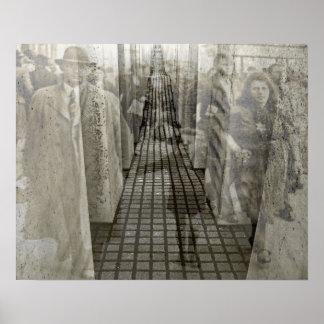 Memorial do holocausto (Denkmal), Berlim (j5sepia) Pôster