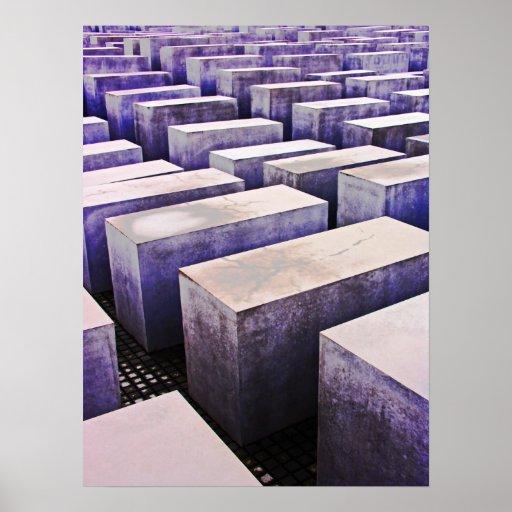 Memorial do holocausto (Denkmal), Berlim, malva (j Pôsteres