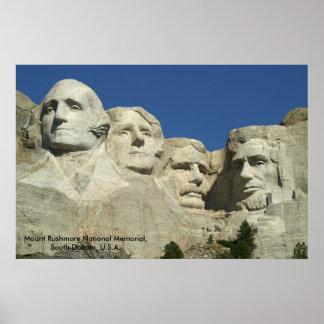 Memorial do nacional do Monte Rushmore Pôster