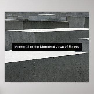 Memorial judaico do holocausto (Denkmal), Berlim,  Pôster