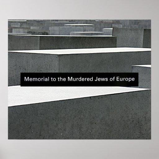 Memorial judaico do holocausto (Denkmal), Berlim,  Pôsteres