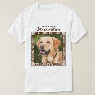 Memorialize seus foto e nome feitos sob encomenda camiseta