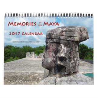 Memórias do calendário de parede do Maya