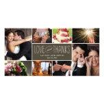 Memórias doces que Wedding o obrigado você cartões Cartoes Com Foto