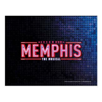 MEMPHIS - o logotipo musical Cartão Postal