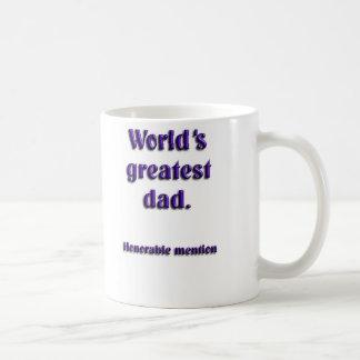Menção honrosa do pai dos mundos a grande caneca de café