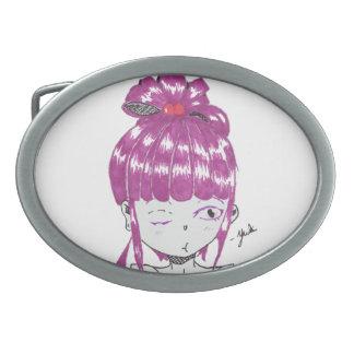 menina adolescente do cabelo cor-de-rosa do chibi