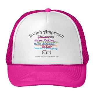 Menina americana judaica bonés