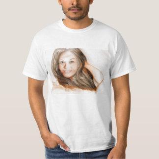 Menina asiática da mulher da senhora da beleza camiseta