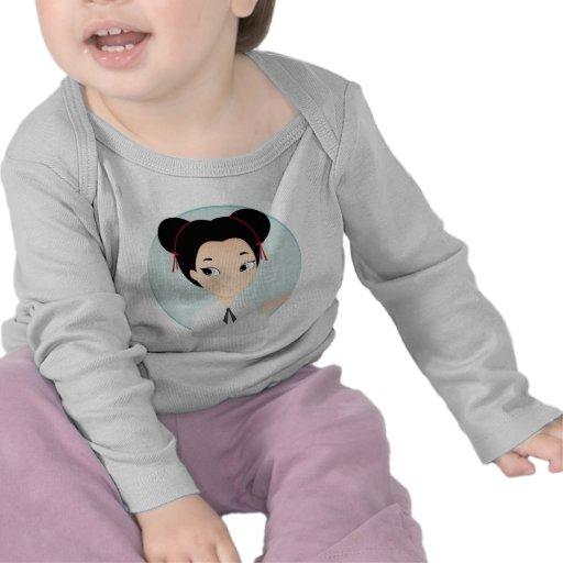Menina asiática t-shirt
