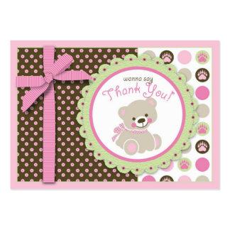 Menina bem-vinda TY Notecard do urso Cartões De Visitas