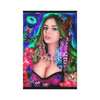 Menina bonito, arte da parede, decoração da