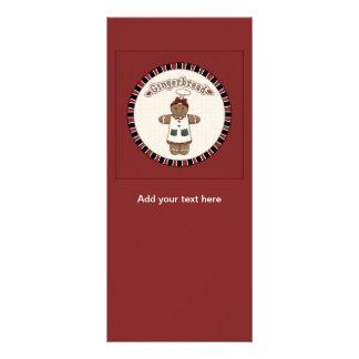 Menina bonito do pão-de-espécie 10.16 x 22.86cm panfleto