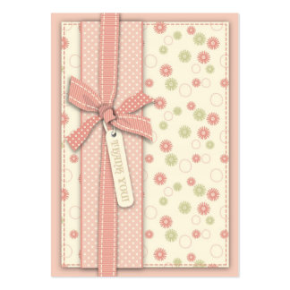 Menina bonito TY floral Notecard Cartões De Visitas