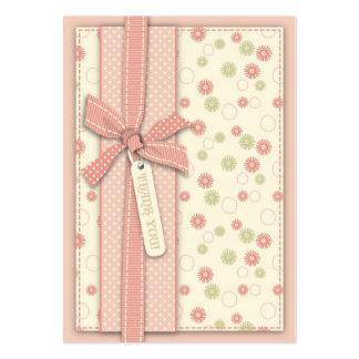 Menina bonito TY floral Notecard Cartão De Visita Grande