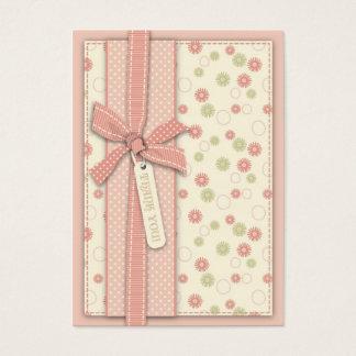 Menina bonito TY floral Notecard Cartão De Visitas