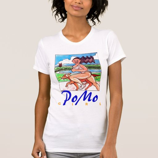 Menina & cão de PoMo T-shirt