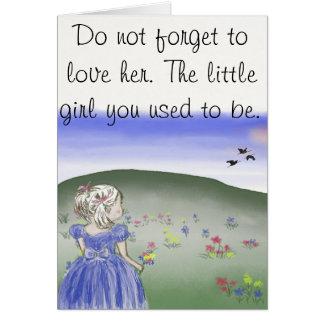 Menina, cartão